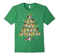 Shetland Sheepdog Christmas Tree Funny Sheltie Christmas T-shirt Forest Green