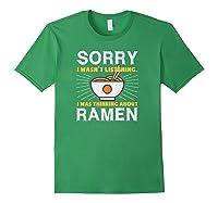 Kawaii Ra Japanese Noodle Food Anime Funny Shirts Forest Green