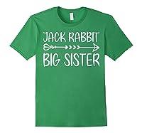 Cute Fack Rabbit Big Sister Shirt T Shirt Forest Green