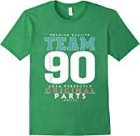 90th Birthday Funny Gift Team Age 90 Years Old T-shirt Forest Green