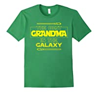 Best Grandma In The Galaxy Mother S Day T Shirt Star Grandma Forest Green