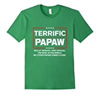 Donald Trump Fathers Day Gift For Papaw Funny Campaign Sign T Shirt Forest Green