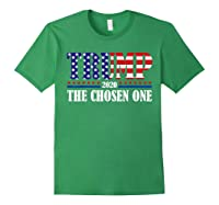 Trump 2020 The Chosen One Election T Shirt Forest Green