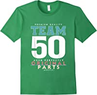 50th Birthday Funny Gift Team Age 50 Years Old T-shirt Forest Green