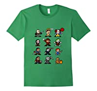 Friends Pixel Halloween Icons Scary Horror Movies Tank Top Shirts Forest Green