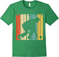Vintage Style Lawn Bowling Silhouette T-shirt Forest Green