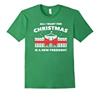 Resist And Impeach President For Christmas 2020 Anti Trump Premium T Shirt Forest Green