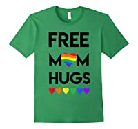 Free Mom Hugs Rainbow Heart Lgbt Pride Month Shirts Forest Green