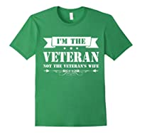 I M The Veteran Not The Veteran S Wife Woman Tshirt Forest Green