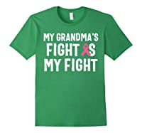 My Grandma S Fight Is My Fight Breast Cancer Awareness T Shirt Forest Green
