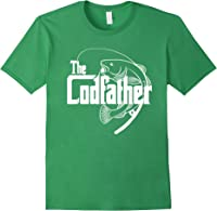 S Codfather Cod Fishing Fisherman Angler Novelty Humor Gifts T-shirt Forest Green