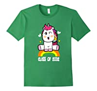 Unicorn First Day Of School Class Of 2032 Grow With Me Premium T-shirt Forest Green