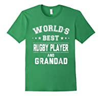 Worlds Best Rugby Player And Grandad Gift Cm Shirts Forest Green