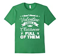 Tea Valentines Day Tshirt Funny Class School Gift Unisex Forest Green