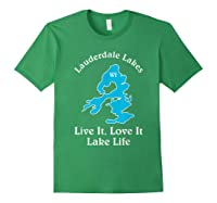 Lauderdale Lakes Wi Lake Life T-shirt Wisconsin Fans Tee Forest Green