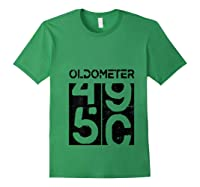 Oldometer 50 Shirt Great 50th Anniversary Birthday Gift Tee T-shirt Forest Green