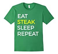 Beef Steak, Meat Bbq Gift Shirts Forest Green