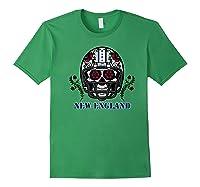 New England Football Helmet Sugar Skull Day Of The Dead Shirts Forest Green