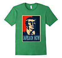 Impeach Trump Now Nancy Funny Vintage Gift T Shirt Forest Green