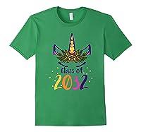 Unicorn Face Class Of 2032 First Day Kindergarten Girls Gift Shirts Forest Green
