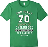 70th Birthday Funny Gift Life Begins At Age 70 Years Old T-shirt Forest Green