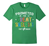 Promoted To Great Single Dad Est 2020 T Shirt Father S Day Forest Green