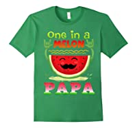 One In A Melon Papa Shirt Funny Watermelon Tee Forest Green