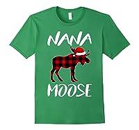 Nana Moose Matching Family Christmas Plaid Red Pajama Gift Shirts Forest Green