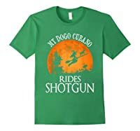 Dogo Cubano Rides Shotgun Dog Lover Halloween Party Gift T-shirt Forest Green