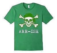 Funny Arrish Sugar Skull St Saint Patricks Day Shirts Gift Forest Green