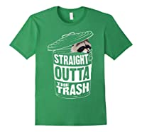 Straight Outta The Trash | Cool Trash Panda Gift T-shirt Forest Green