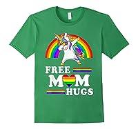 Free Mom Hugs Unicorn Lgbt Pride Rainbow Gift Shirts Forest Green