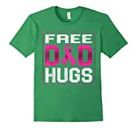 Free Dad Hugs Breast Cancer Awareness Month Gifts T Shirt Forest Green
