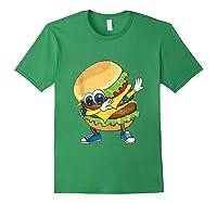 Cool Dabbing Burger Funny Street Dancer Hamburger Lover Gift Tank Top Shirts Forest Green
