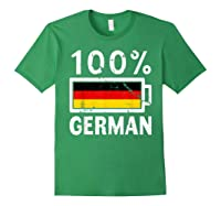 Germany Flag T Shirt 100 German Battery Power Tee Forest Green