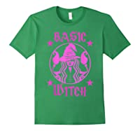 Basic Witch Halloween T Shirt Forest Green