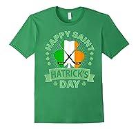 St Patrick S Day Hockey T Shirt Irish Saint Hatrick S Day 01 Forest Green