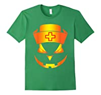 Scary Halloween T Shirt For Nurses Forest Green