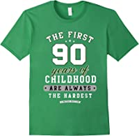 90th Birthday Funny Gift Life Begins At Age 90 Years Old T-shirt Forest Green