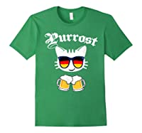 Oktoberfest Prost Purrost Funny Pun Purrost Cat Beer 2019 T-shirt Forest Green