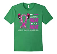 My Grandma S Fight Is My Fight Breast Cancer Awareness Month T Shirt Forest Green