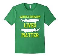Sturgeon Fishing Shirt Fish T-shirt Gift Forest Green