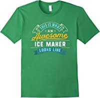Funny Ice Maker Shirt Awesome Job Occupation Graduation T-shirt Forest Green
