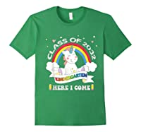 Studen Tshirt Class Of 2032 Grow With Me Unicorn Girl T-shirt Forest Green