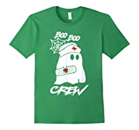 Boo Boo Crew Nurse Ghost Funny Halloween Costume Gift T-shirt Forest Green