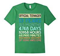 Nager Vintage 13 Years Birthday N Gifts Shirts Forest Green