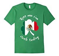 Kiss Me I M Mexican St Patrick S Day Funny T Shirt Forest Green