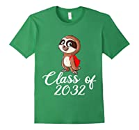 Sloth Class Of 2032 Back To School Gift Shirts Forest Green