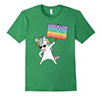 Social Justice Unicorn Equality Protest Human Rights T-shirt Forest Green