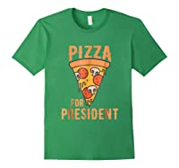 Impeach Trump Pizza For President Pizza Lovers T Shirt Forest Green